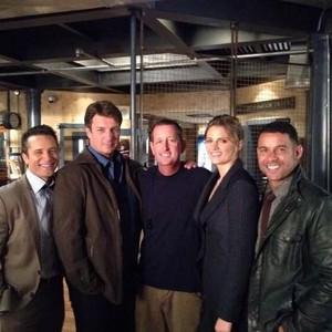 Stanathan and Castle's cast-BTS season 7