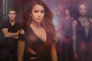 Stefan, Elena, Damon and Bonnie season 6