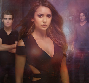 Stefan, Elena and Damon season 6