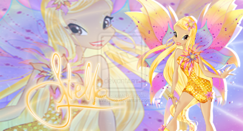 the winx club wallpaper with a bouquet entitled Stella: 2D Mythix wallpaper
