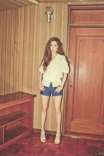 Seohyun 壁紙 containing bare legs, hosiery, and tights entitled TTS 'Holler' Album Photobook Scans (Seohyun)