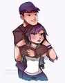 Tadashi and GoGo Tomago
