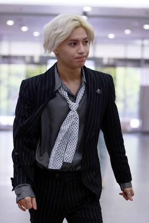 Taemin on the way to Lee Sora Radio - Ace Era, White Hair