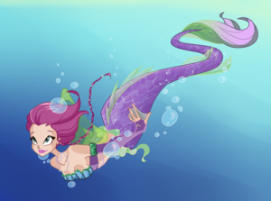Tecna as a Mermaid