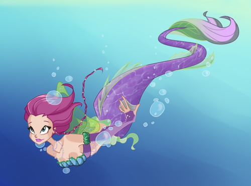 Winx Club(ウィンクス・クラブ) 壁紙 called Tecna as a Mermaid