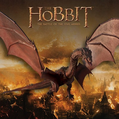 호빗 바탕화면 containing 아니메 called The Hobbit: The Battle Of The Five Armies - Smaug Figure