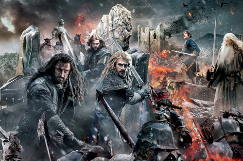 द हॉबिट वॉलपेपर with a आग and a फव्वारा titled The Hobbit: The Battle Of The Five Armies - Stills