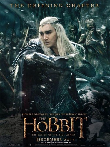 द हॉबिट वॉलपेपर with ऐनीमे titled The Hobbit: The Battle Of The Five Armies - Thranduil Poster