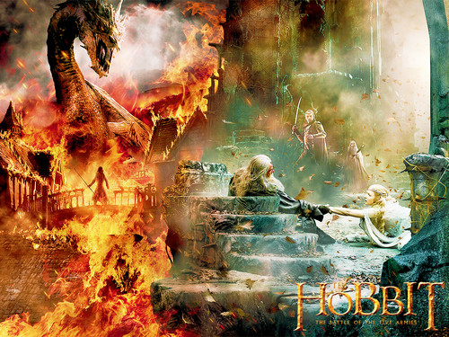 The Hobbit Wallpaper With A Fire Titled Battle Of Five Armies