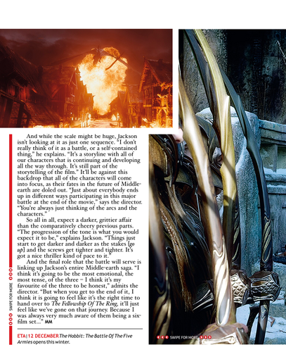 호빗 바탕화면 with 아니메 entitled The Hobbit: The Battle of the Five Armies in Magazine
