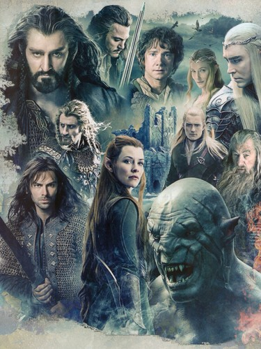 द हॉबिट वॉलपेपर possibly containing ऐनीमे called The Hobbit: The Battle of the Five Armies
