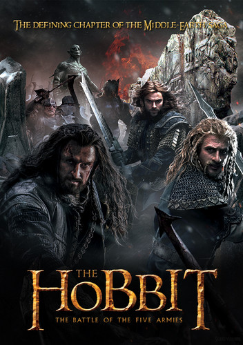 द हॉबिट वॉलपेपर with ऐनीमे called The Hobbit the battle of five armies™ poster