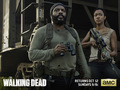 the-walking-dead - Tyreese & Sasha wallpaper