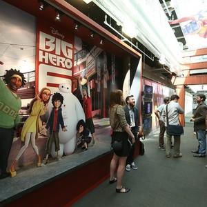 The cast of Big Hero 6 greets guests Inside Walt Disney Animatoin Studios