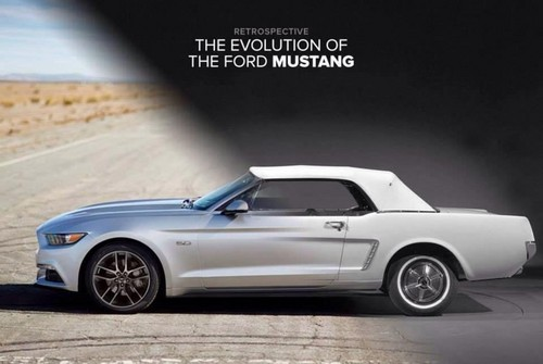 Nocturnal Mirage fond d'écran probably with a convertible and a roadster titled The evolution of the ford Mustang: 1964-2014