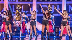 The girls performing Salute Sunday night at the Palladium
