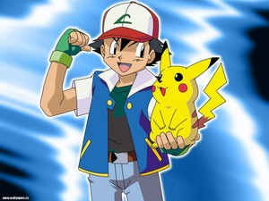 The hero himself and his loyal pokemon!!!