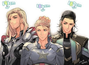 Thor, Captain and Loki