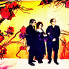 Tim burton bức ảnh with anime titled Tim Burton, Johnny Depp and Helena Bonham Carter