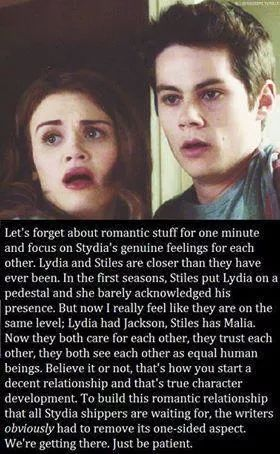 To all the Stydia fans we are getting there slowly but surely we will get there.