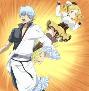 Tomoe Mami and Gintoki