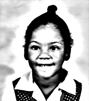 Toni Braxton as a little girl