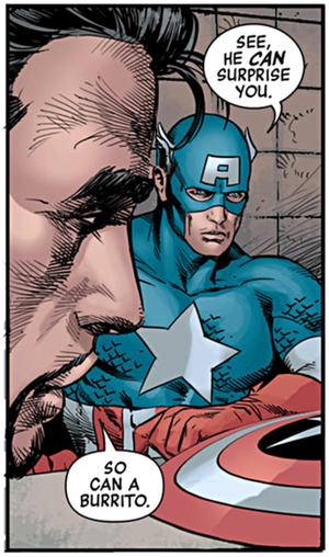 Tony and Captain America