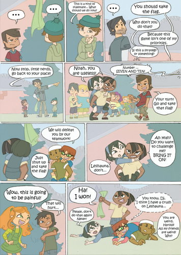 Total Drama Island wallpaper possibly with anime called Total Drama Kids Comic: Page 21