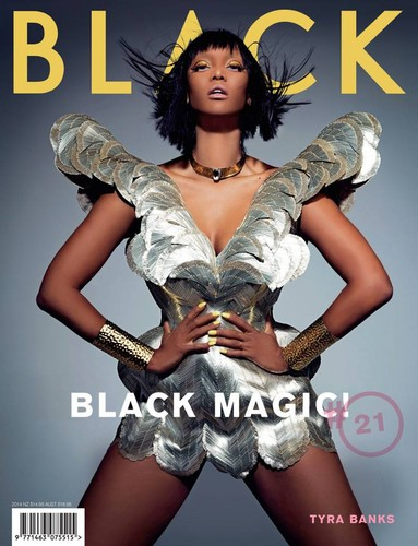 Tyra Banks wolpeyper possibly containing a hip boot and a portrait called Tyra / BLACK MAGAZINE