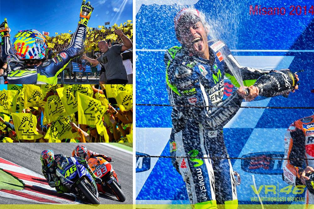 Vale 1st at Misano 2014