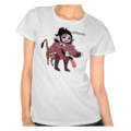Vanellope dressed as Pumbaa Womens T-Shirt 1 (Front)