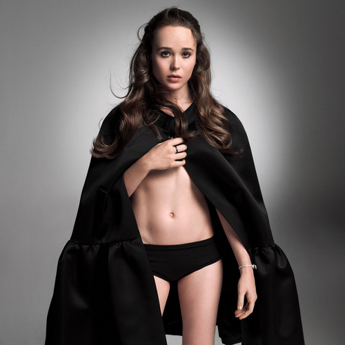Ellen Page wallpaper possibly containing a cloak entitled W Magazine October 2014