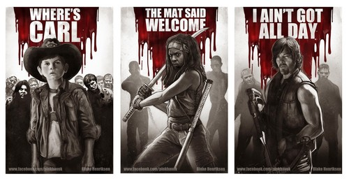 the walking dead wallpaper entitled Walking dead prints