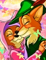 Walt Disney Fan Art - Maid Marian & Robin Hood - walt-disney-characters fan art