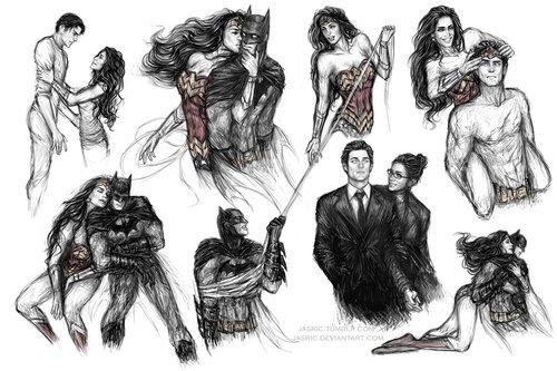 वंडर वुमन वॉलपेपर with ऐनीमे called Wonder Woman and बैटमैन