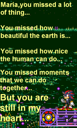 Shadow's words for Maria