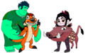 Wreck-It Ralph Characters dressed as The Lion King Broadway Musical Costumes - the-lion-king-1-2 fan art