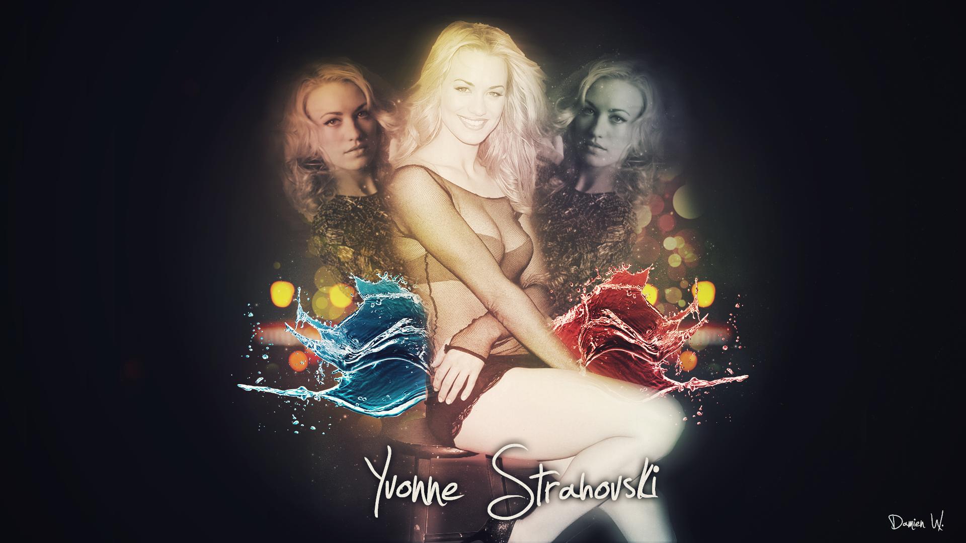 Yvonne Strahovski HD achtergrond - door Damien W.