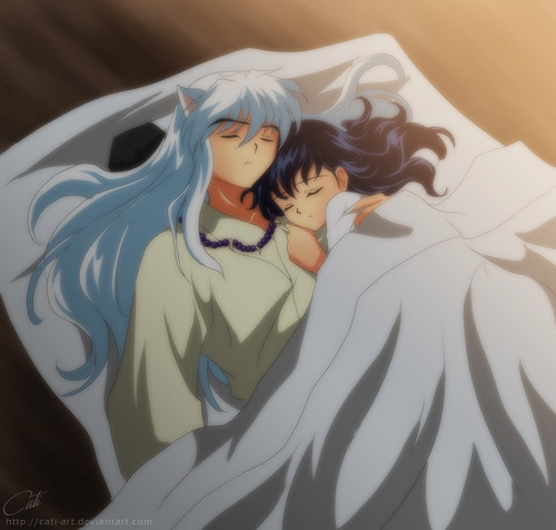 inuyasha y kagome fondo de pantalla called at peace in your arms