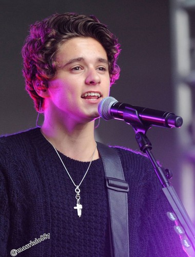 The Vamps wallpaper with a concert and a guitarist called bradley simpson,2014