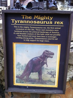 dinoland mighty t-rex sign