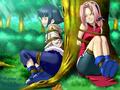hinata and sakura - naruto-women photo