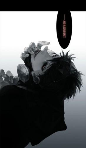 Tokyo Ghoul karatasi la kupamba ukuta titled kaneki ken