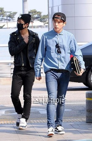 130506 @Incheon Airport departing for LA