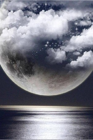 ocean and moon