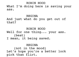 outlaw queen // cut line-moment
