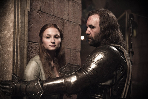 Sansa Stark Hintergrund possibly with a breastplate entitled sansa and sandor