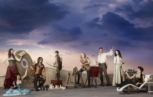 Once Upon A Time fond d'écran containing a drummer, a concert, and a percussion instrument titled season 2 cast2
