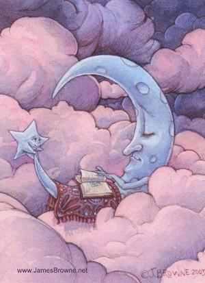 sleeping moon