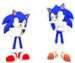 sonic meets himself as an american - sonic-the-hedgehog icon